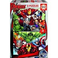 Avengers - 2 x 48 stukjes
