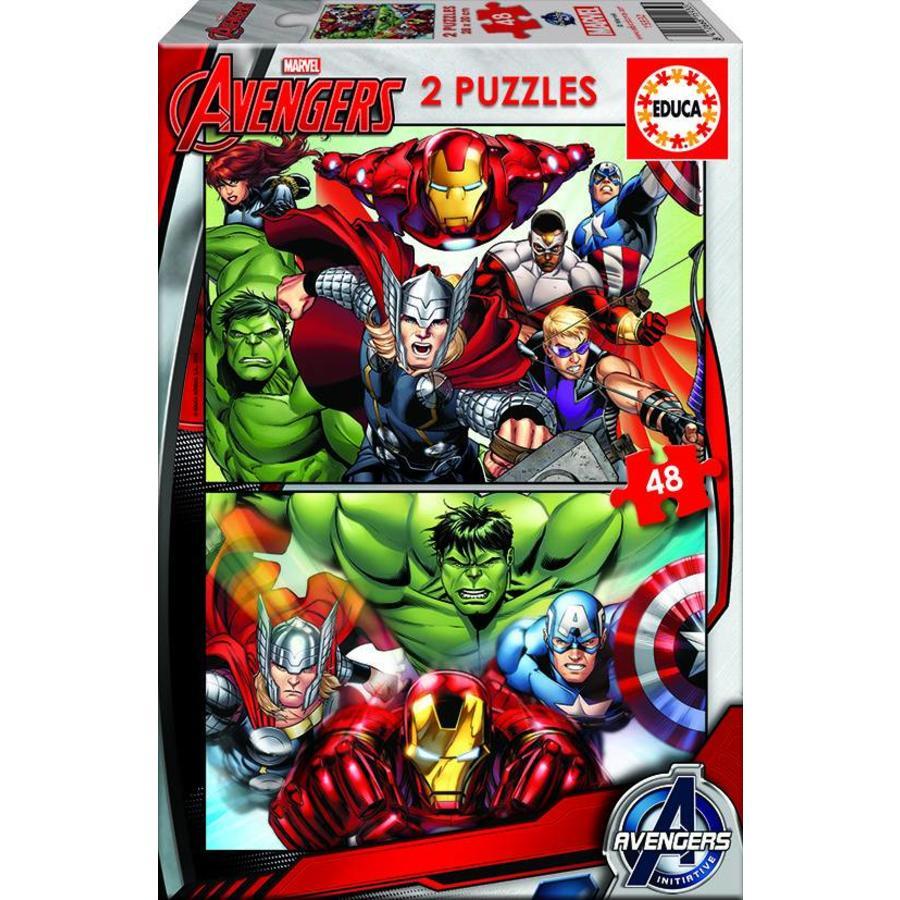 Avengers - 2 x 48 stukjes-1