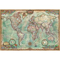 thumb-Miniatuur puzzel - Wereldkaart - 1000 stukjes-2