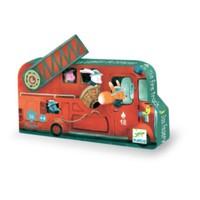 thumb-De brandweerwagen - 16 stukjes-1