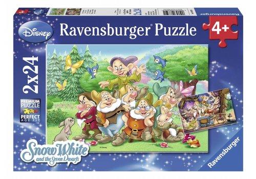 Ravensburger De 7 dwergen - 2 x 24 stukjes