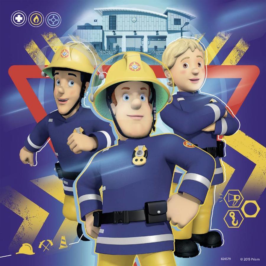 Bij gevaar Brandweerman Sam roepen - 3 x 49 stukjes-2