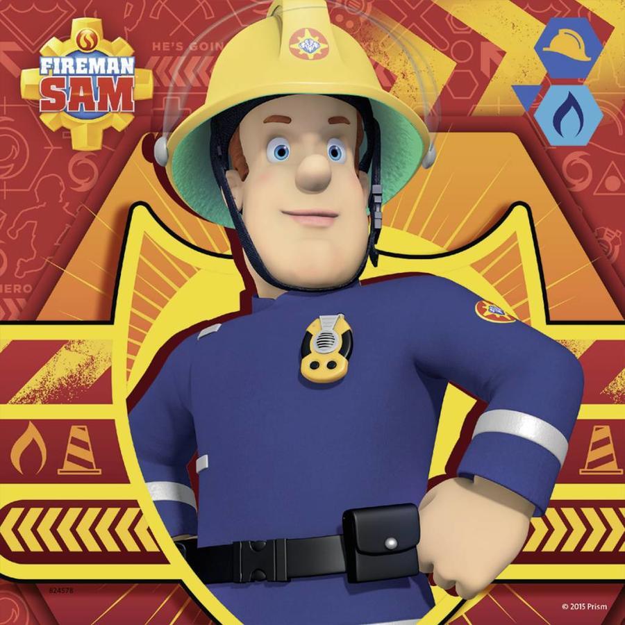 Bij gevaar Brandweerman Sam roepen - 3 x 49 stukjes-3