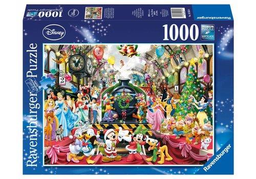 De kersttrein - 1000 stukjes