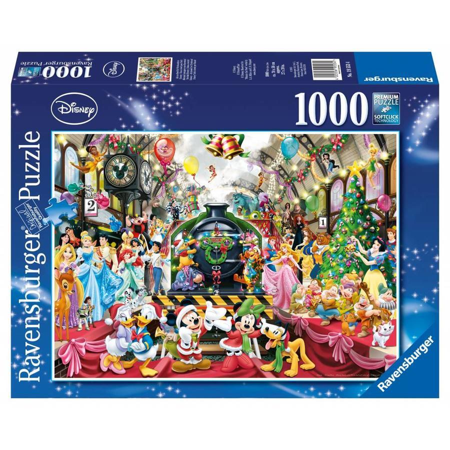 De kersttrein - legpuzzel van 1000 stukjes-1