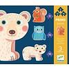 Djeco Eerste puzzels - In het bos - 3 puzzels van 9, 12 en 16 stukjes