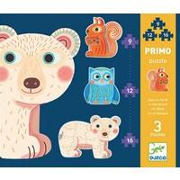 thumb-Premiers puzzles - Dans la forêt - 3 puzzles de 9, 12 et 16 pièces-1