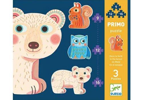 Djeco Premiers puzzles - Dans la forêt - 9, 12 et 16 pièces