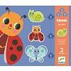 Djeco Premiers puzzles - Dans le jardin - 3 puzzles de 3, 4 et 5 pièces