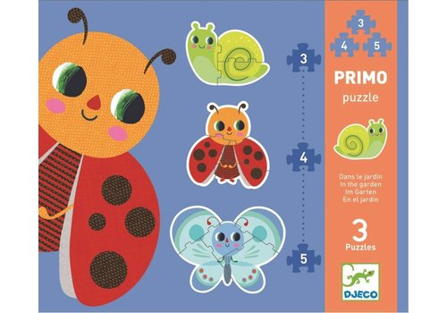 Djeco Eerste puzzels - In de tuin - 3, 4 en 5 stukjes