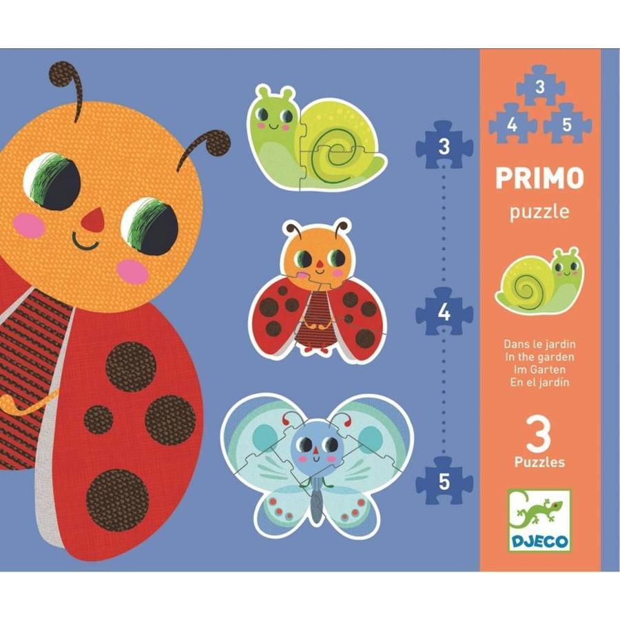 Premiers puzzles - Dans le jardin - 3 puzzles de 3, 4 et 5 pièces-1