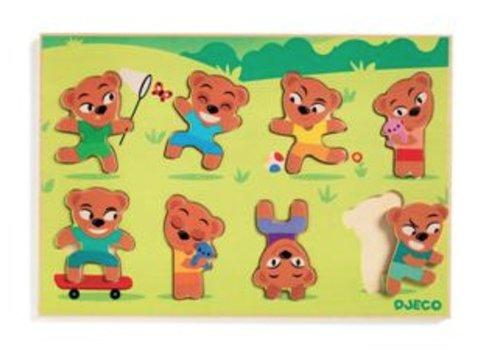 Djeco Teddy Match - 8 pièces