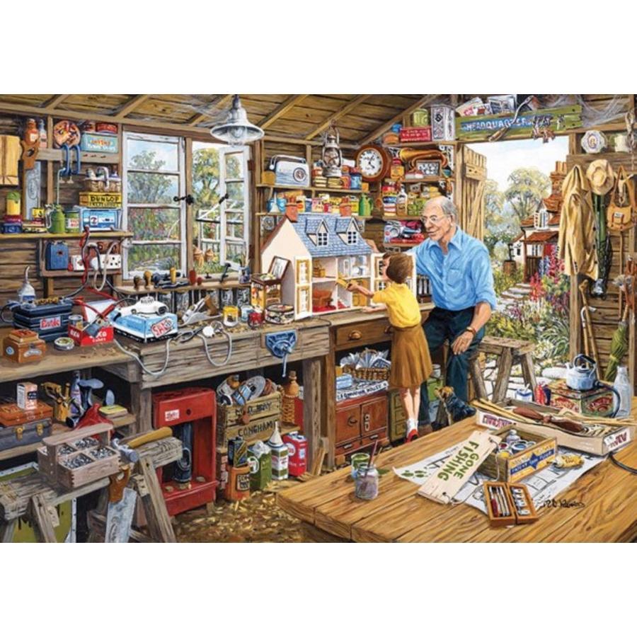 Grootvaders werkplaats - puzzel van 1000 stukjes-1