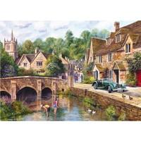 thumb-Het mooie dorp Castle Combe - puzzel van 1000 stukjes-1