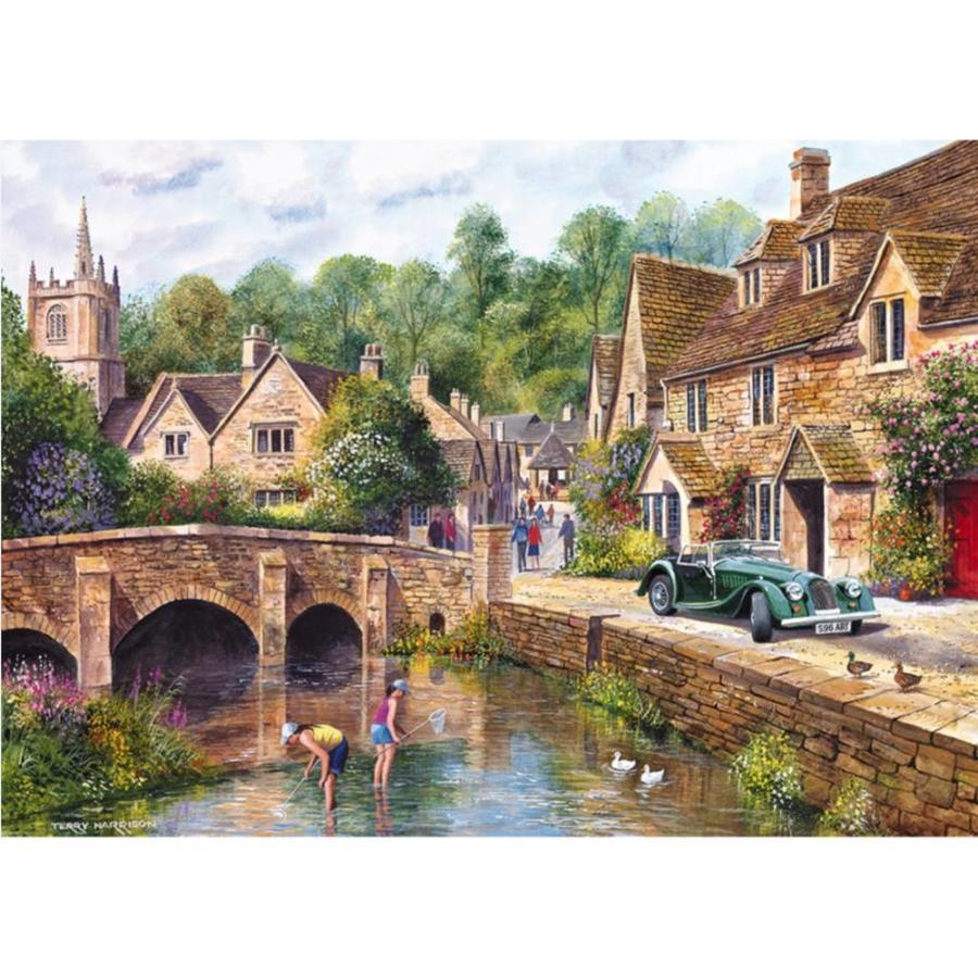 Het mooie dorp Castle Combe - puzzel van 1000 stukjes-1
