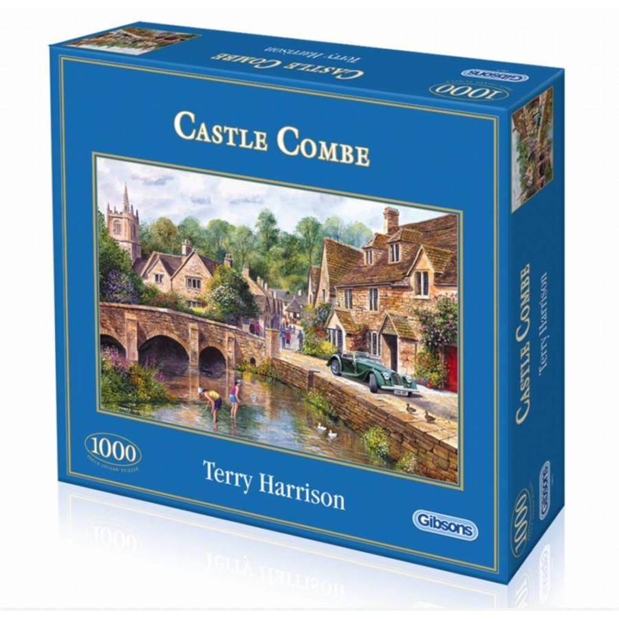 Het mooie dorp Castle Combe - puzzel van 1000 stukjes-2