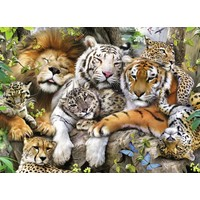 thumb-Le sommeil des tigres - puzzle de 200 pièces XXL-1