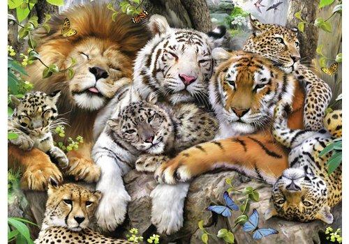 Slaapje van de tijgers - 200 stukjes XXL