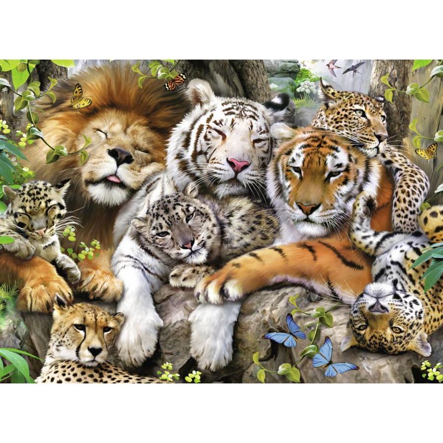Le sommeil des tigres - puzzle de 200 pièces XXL-1