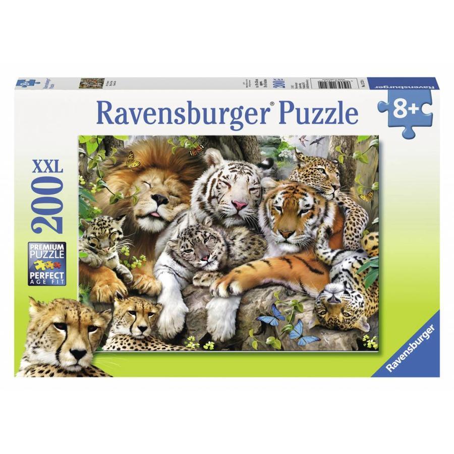 Le sommeil des tigres - puzzle de 200 pièces XXL-2