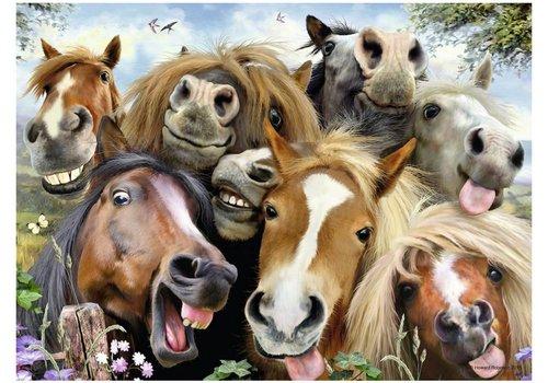 Selfies! Paarden overal! - 500 stukjes