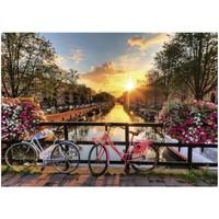 thumb-Fietsen in Amsterdam - puzzel van 1000 stukjes-2