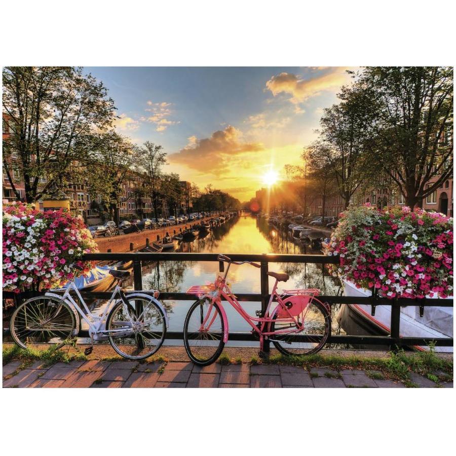 Fietsen in Amsterdam - puzzel van 1000 stukjes-2