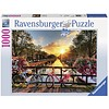 Ravensburger Fietsen in Amsterdam - puzzel van 1000 stukjes