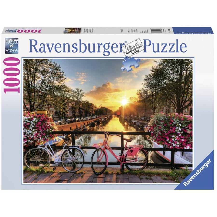 Fietsen in Amsterdam - puzzel van 1000 stukjes-1