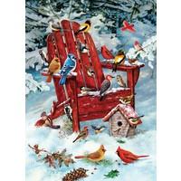 Oiseaux dans la neige - 1000 pièces