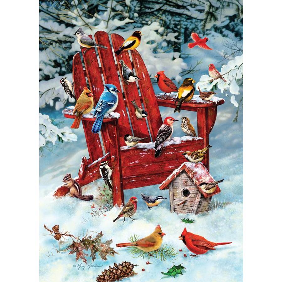 Oiseaux dans la neige - 1000 pièces-1