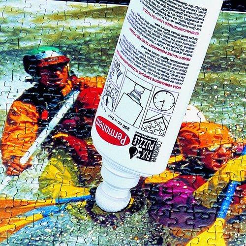 Puzzel glue