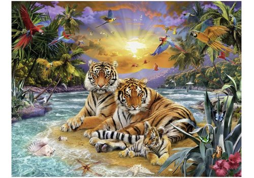 Tiger family at sunset - 2000 pieces