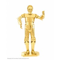 thumb-Star Wars C-3PO - GOLD - 3D-puzzel in goud-1