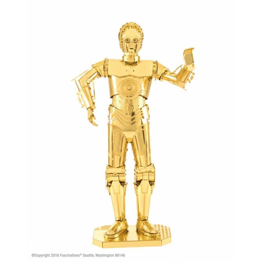 Star Wars C-3PO - GOLD - 3D-puzzel in goud-1