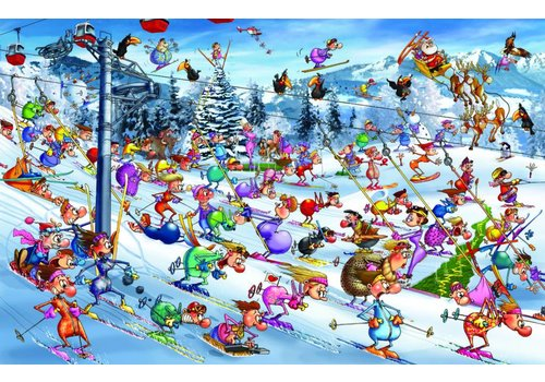 Skiing - Comic - 1000 pieces