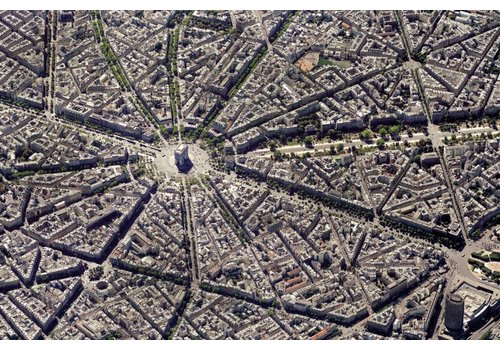 Parijs vanuit de lucht - 1000 stukjes