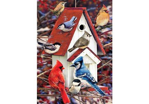 Winters vogelhuisje - 1000 stukjes