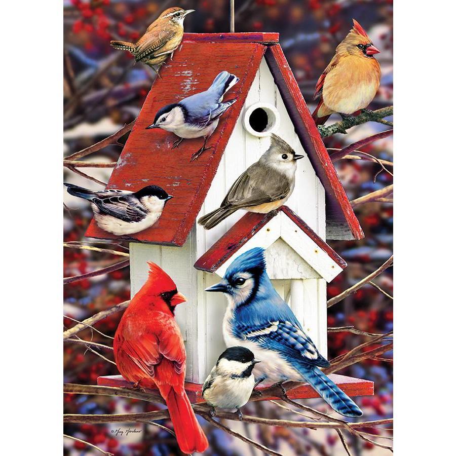 Winters vogelhuisje - 1000 stukjes-1