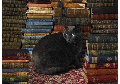 Cobble Hill Chat parmi les livres - 1000 pièces