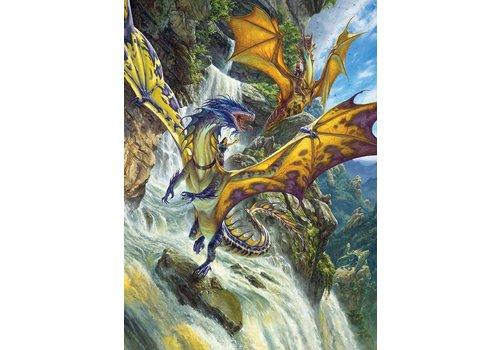 Dragons à la chute d'eau - 1000 pièces