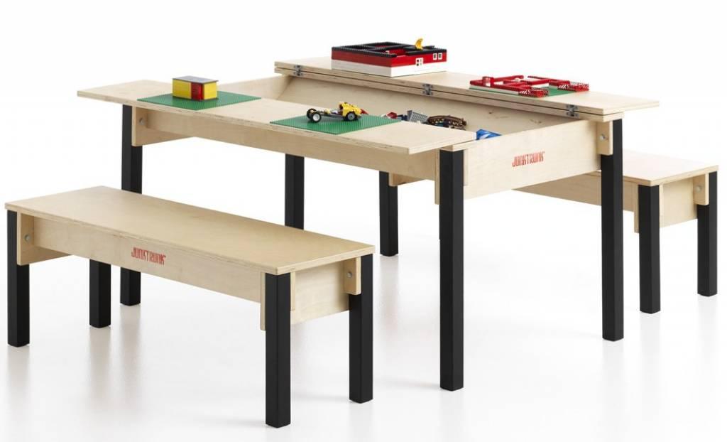 Houten Kinderbankje Met Opbergruimte.Speeltafel Met Opbergruimte Voor Speelgoed