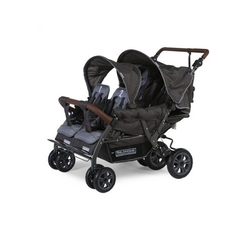 Childhome Bolderwagen Quadruple 4-zits (model 2020)
