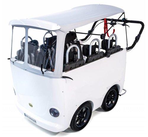 Weber Kinderbus 6 zits geel - wit