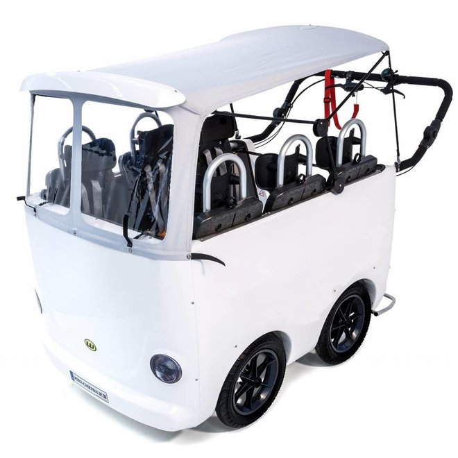 Kinderbus 6 zits wit