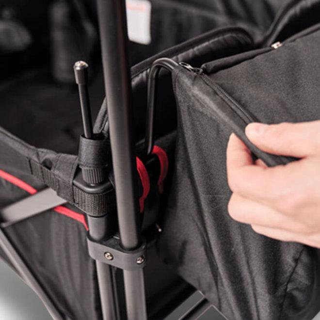 Elvent WagonPro Zwart 4-zits opvouwbaar