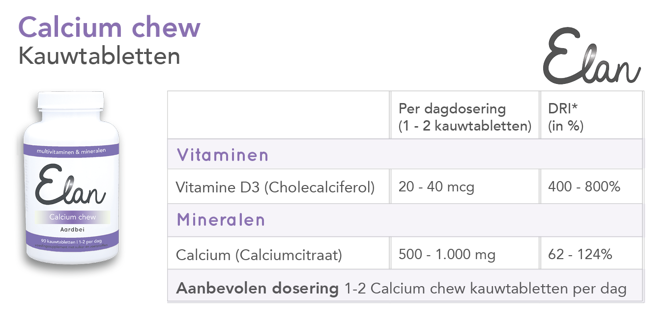 Calcium chew tabletten