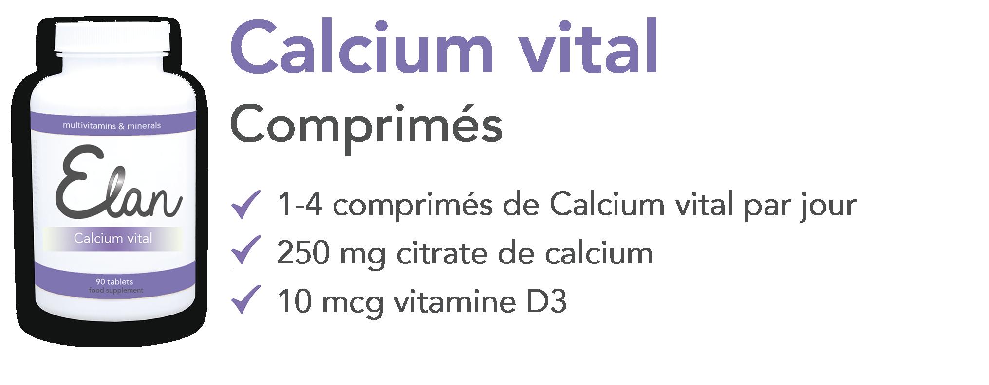 Comprimes de Calcium vital