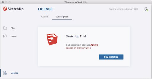 SketchUp Pro 2019 - tweede en/of volgende subscription