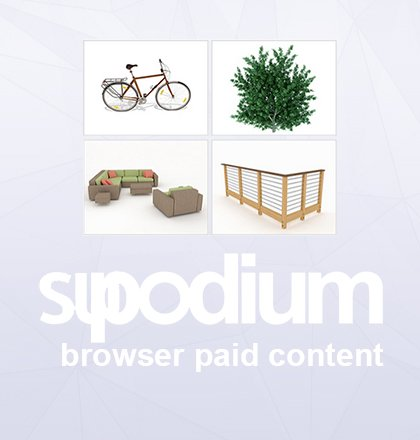 Browser paid content